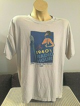 Joliet Central Illinois High School T-Shirt White 1940s Radio Hour 1995 ... - $16.82