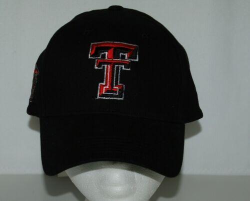 TEI Black Texas Tech Adjustable Cap Masked  Rider TT Colors