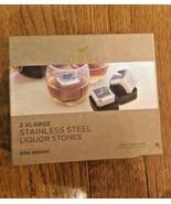 DogHaus Dog Design - 2 XLarge Stainless Steel Liquor Stones Paw Print - NEW - $14.99