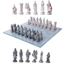 Crusader Christian Kingdoms VS Muslim Ottoman Empire Resin Chess Pieces ... - $69.29