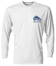 6 Personalized Custom Printed Dri Fit Longsleeve SPF Fishing Tee Sun Shirts  image 4