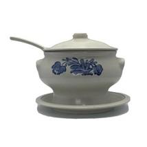 Large Pfaltzgraff Yorktowne Soup Tureen w/ Lid, Ladle, & Under Plate Castle Mark - $24.74