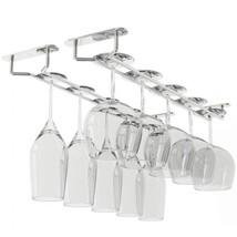 Wallniture Stemware Wine Glass Rack Hanger Under Cabinet Storage Chrome... - $23.61
