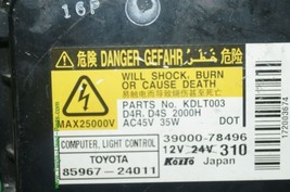 Lexus Toyota Headlight Xenon HID BALLAST 85967-24011, 39000-78496 image 2