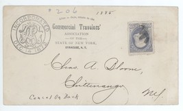 1885 Commercial Travelers Association Syracuse - Chittenango NY Cover w/... - $4.94
