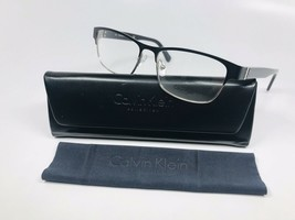 New Calvin Klein Collection CK7392 001 Black & Silver Eyeglasses 51mm with Case - $89.35
