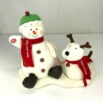 Hallmark Christmas Jingle Pals Snowman Puppy Jingle Bells Sound Motion - $22.71