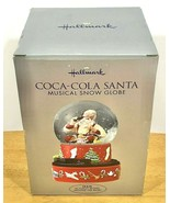 Hallmark Christmas Coca-Cola Santa Musical Snow Globe Train Moves 2001 S... - $29.95