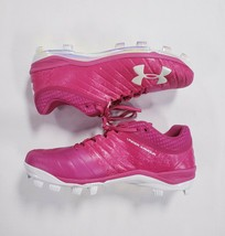 Under Armour Men's Football Cleats Bright Pink w/ Iridescent Bottom Size 15 - $35.58