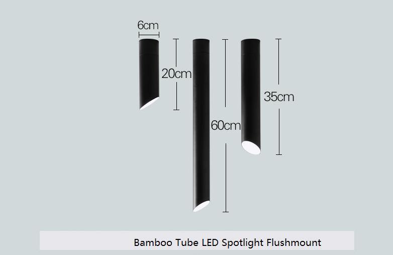 Bamboo Tube Flush Mount E27 LED Spotlight Ceiling Light Lamp Home Lighting New