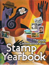 2005 USPS COMMEMORATIVE STAMP YEARBOOK with STAMPS, unhinged, new - $64.95