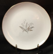 """Kaysons Golden Rhapsody Bread Butter Plate 6 3/8"""" Gray Gold Leaves Gold ... - $4.99"""