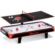 MD Sports 44 inch Air Powered Hockey Table Top with Table Tennis Top wit... - $85.13