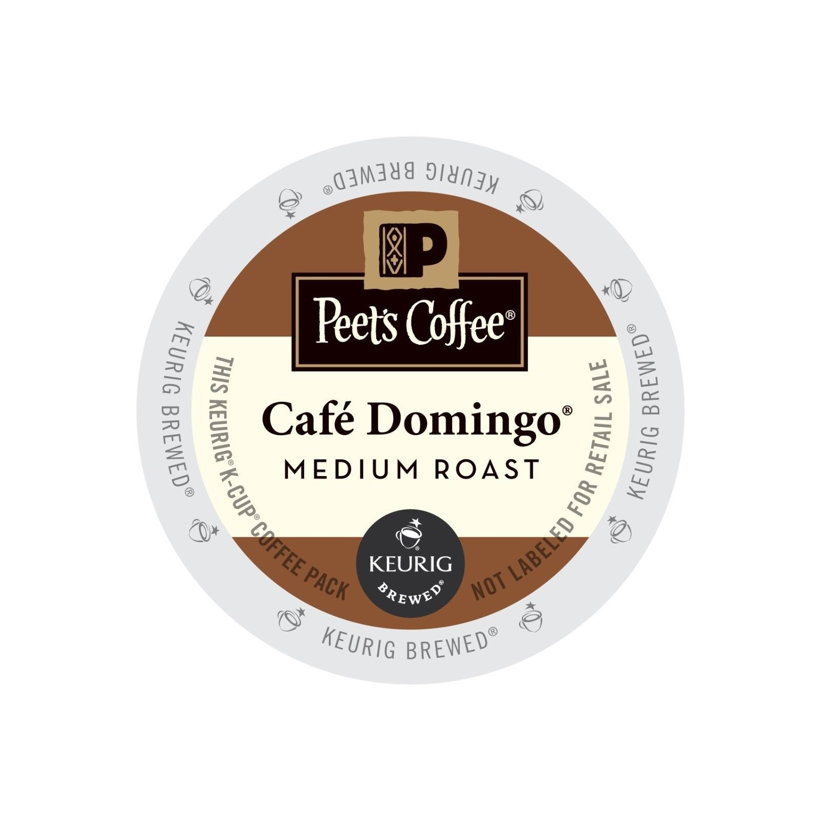 Peet's Coffee Cafe Domingo Coffee, 44 Kcups, FREE SHIPPING