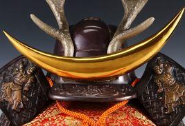 Japanese Beautiful Samurai Helmet -shikanosuke kabuto- with a Replica Blade image 4