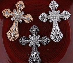 10pcs Cross rhinestone Buttons,Crystal Brooch Component,rhinestone Buttons - $19.80