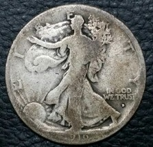 1916D Walking Liberty Half Dollar 90% Silver Coin Lot# MZ 4662