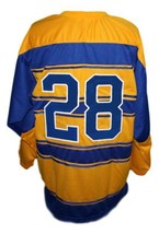 Any Name Number Pittsburgh Pirates Retro Hockey Jersey 1928 New Yellow Any Size image 2