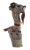 """Finger Puppet Goat Knitted Handmade 3.5"""" Gray Brown - $11.75"""