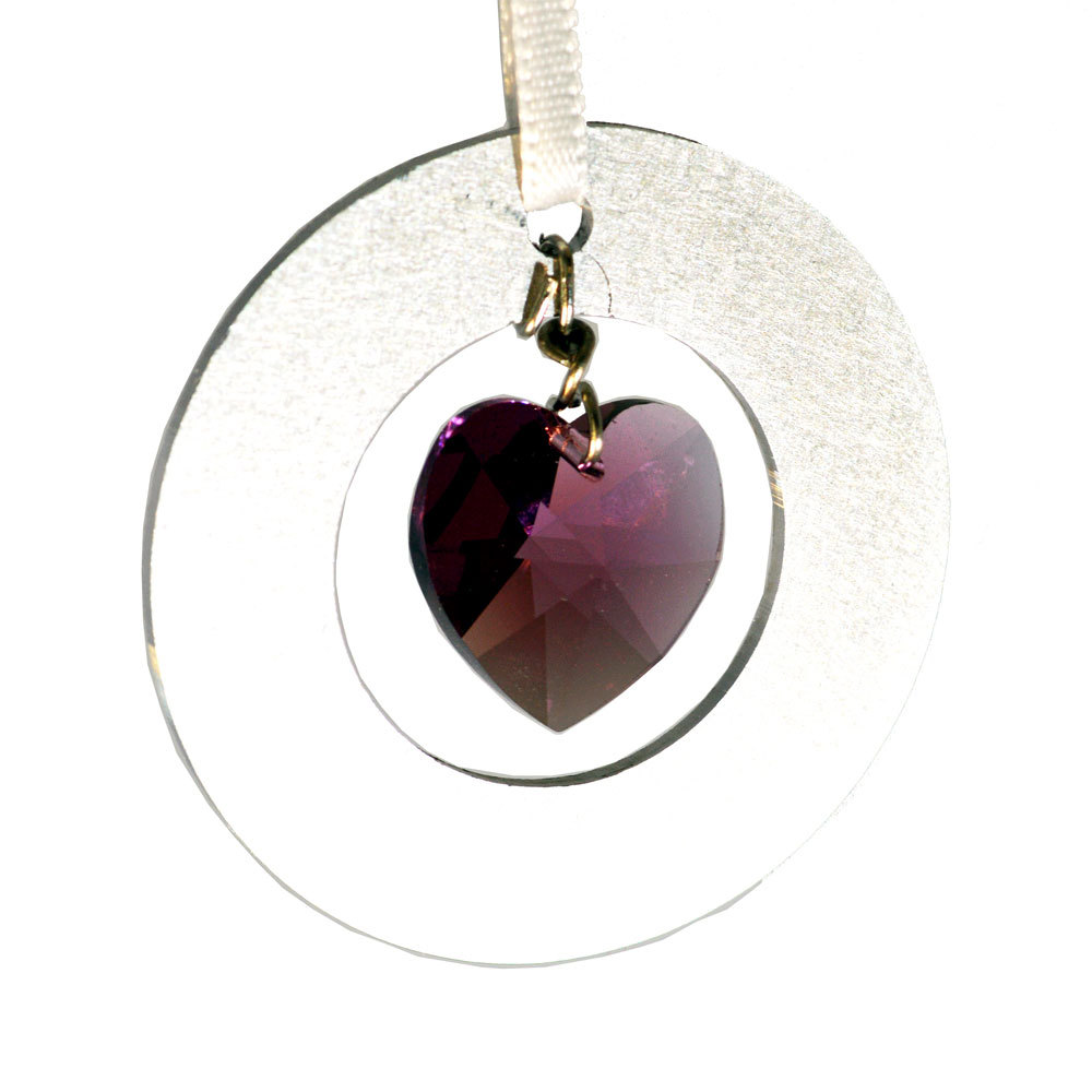 Crystal heart ornament al2cir p012 03