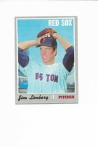 1970 Topps High Number #665 Jim Lonborg, Boston Red Sox - $6.45