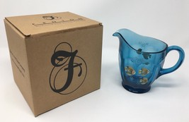 Fenton Indigo Blue Hand Painted Fish Pitcher - Original Box and Tags! #4... - $84.99