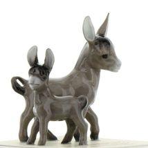 Hagen Renaker Miniature Farm Burro Donkey Mama and Baby Ceramic Figurine Set image 8