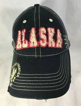 ALASKA Last Frontier Since 1959 Cap Baseball Hat Black Red Distressed L/XL - $38.61