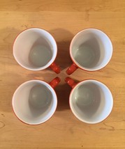 Vintage 60s set of 4 Corelle by Pyrex Burnt Orange mugs (discontinued and rare) image 4
