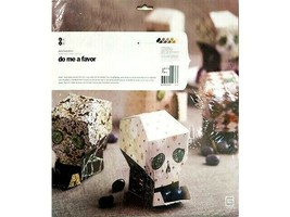 BasicGrey Eerie Favor Boxes and Gift Tags Kit, 6 Eerie Favor Boxes, 12 Gift Tags