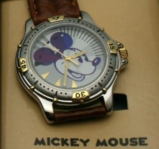 Disney Watch Mickey Mouse Case Diver Style Two Tone Mens Watch New NIB - $122.76