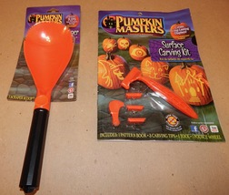 Pumpkin Masters Surface Carving Kit Patterns & Jack-O-Ripper Scraper Sco... - £7.38 GBP