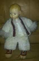 Adorable B. Altman's Eskimo Snow Baby Boy Doll - $24.26