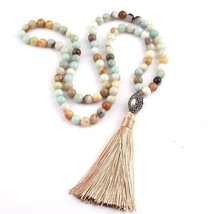 1pcs  Fashion Amazonite Stones Bohemian Tribal Jewelry Oval Pearl Crystal - $11.99
