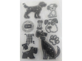 Stylized Dogs Clear Stamp Set