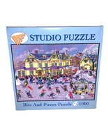 "BITS AND PIECES 1000 Pc Jigsaw Puzzle 27""x20"" Winter's Day Kermon Sermosi  - $21.28"