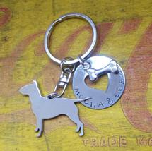 Bull Terrier  Silver Metal Key Chain Dog Lover ID TAG - $18.00