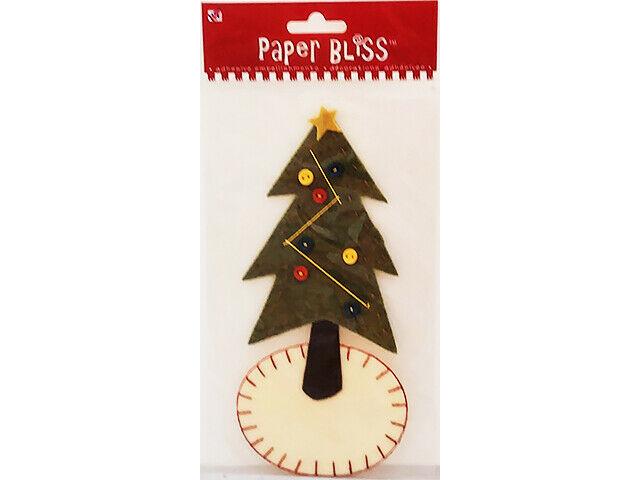 Westrim Crafts Paper Bliss Felt Skirted Tree Sticker #39043-PE-000