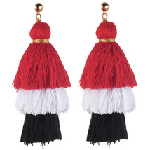 Fashion Elegant Women Bohemian Vintage Long Tassel Drop Earring Boho Dan... - $159,05 MXN