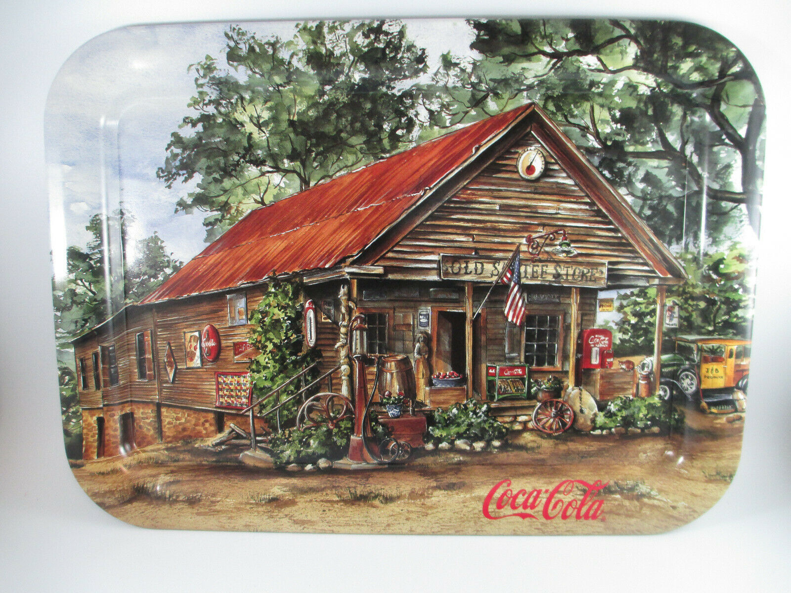 Primary image for Coca-Cola Tin Tray Old Sautee Store 1998 Vintage Ad Tray Jeanne Mack