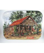 Coca-Cola Tin Tray Old Sautee Store 1998 Vintage Ad Tray Jeanne Mack  - $17.33