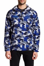 Puma Mens S Blue Army Camo 1.FCH Savannah Half Zip Pullover Hooded Jacket - $103.55