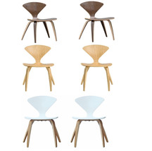 Norman Cherner Style Nat Wal Wht Plywood Accent Dining Chair 1 Chair Or ... - $148.49+