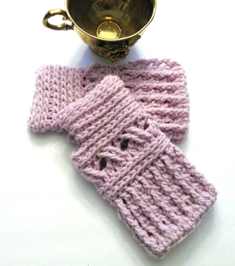 Primary image for Fingerless Gloves, Mittens, Crochet, Handmade,Lace, Knit, Gift, Wrist Warmer