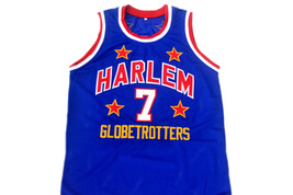 Too Tall #7 Harlem Globetrotters Men Basketball Jersey Blue Any Size image 4
