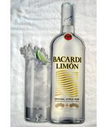 """Bacardi Limon Citrus Rum Metal Sign Bottle & Cocktail 23"""" x 11"""" - $29.65"""