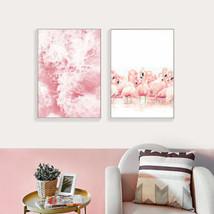 Flamingo Sea Painting Decorative Picture Living Room Decor Wall Art Post... - $8.87