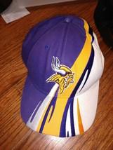 Vtg Rare Minnesota Vikings Hat Purple Yellow NFL Team Apparel Hat Embroidered - $18.69
