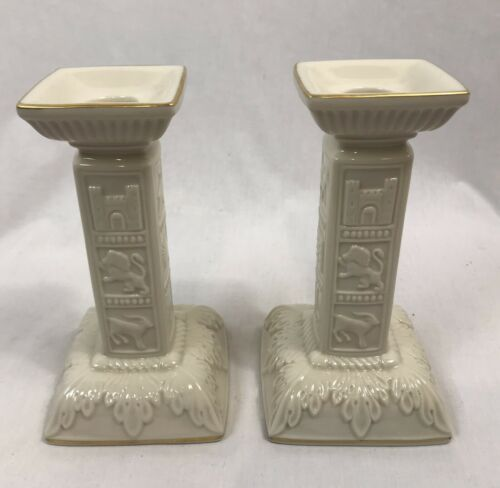 Lenox Judaic Collection 2 Piece Sabbath Collection Candle Holders