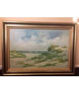 """Majestic, Original, """"Beach"""" Landscape oil on Canvas Italian Painting by Gianelli - $619.23"""